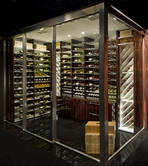 StudioBecker Wine Room in Glass Enclosure